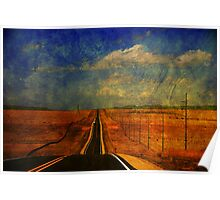 The long road to Santa Fe NM Poster