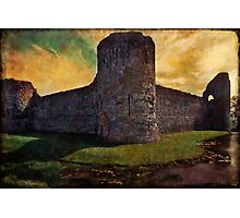 Pevensey Castle Ruins Photographic Print