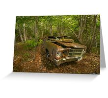 Abandoned Chevelle in Cape Breton Greeting Card