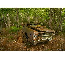 Abandoned Chevelle in Cape Breton Photographic Print