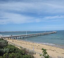 Pier and Beach-Point Lonsdale Victoria by glennmp