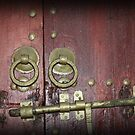 antique door lock by DKphotoart