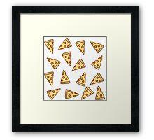Cute Tumblr Pizza Pattern Framed Print