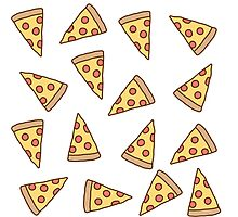 Cute Tumblr Pizza Pattern Photographic Print