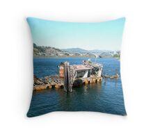 Sunken Ship - Gold Beach Throw Pillow