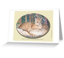 Cat calendar image #8 Raymond in repose  Greeting Card