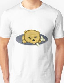 Snooze Poop Dog with bone T-Shirt