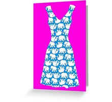 Lilly Pulitzer Inspired Dress Tusk in Sun (Blue) Greeting Card