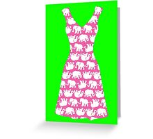 Lilly Pulitzer Inspired Dress Tusk in Sun (Pink) Greeting Card