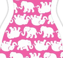 Lilly Pulitzer Inspired Dress Tusk in Sun (Pink) Sticker