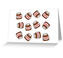Cute Tumblr Nutella Pattern Greeting Card