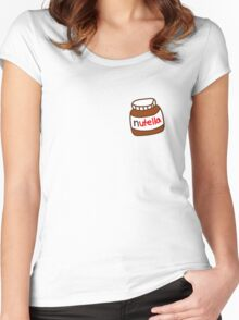 Cute Tumblr Nutella Pattern Women's Fitted Scoop T-Shirt