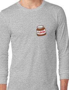 Cute Tumblr Nutella Pattern Long Sleeve T-Shirt