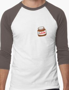 Cute Tumblr Nutella Pattern Men's Baseball ¾ T-Shirt