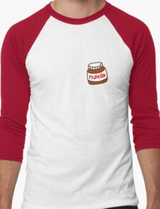 Cute Tumblr Nutella Pattern Men's Baseball ¾ T-Shirt