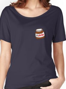 Cute Tumblr Nutella Pattern Women's Relaxed Fit T-Shirt