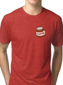 Cute Tumblr Nutella Pattern Tri-blend T-Shirt