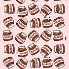 Cute Tumblr Nutella Pattern by deathspell