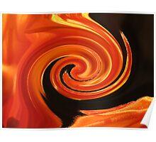 Orange Swirl in Liquorice Poster