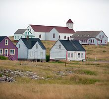 Houses on L'Île-aux-Marins by Mark Prior