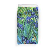 Van Gogh HDR Garden Irises Duvet Cover