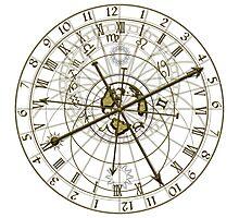 metal astronomical clock Photographic Print