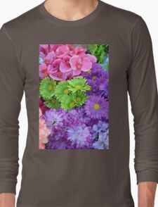 Colorful spring flowers Long Sleeve T-Shirt