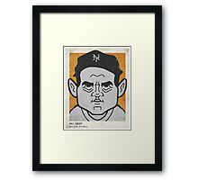Bill Terry Caricature Framed Print
