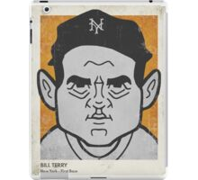 Bill Terry Caricature iPad Case/Skin
