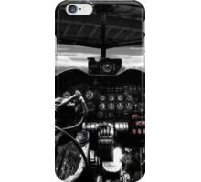 Lancaster bomber cockpit looking out through hangar iPhone Case/Skin