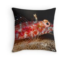 Coral Goby Throw Pillow