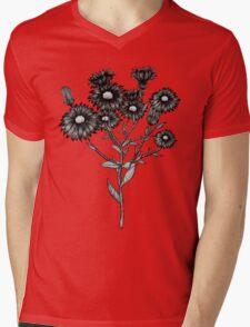 Wild Flower Mens V-Neck T-Shirt