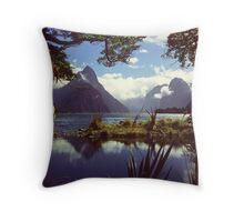 Milford Sound in Fiordland National Park Throw Pillow