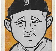 Harry Heilmann Caricature by RJCSportsArt