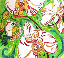 Swirling Orchids by charlylou