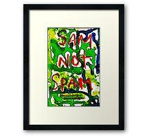 Sam Not Spam! Framed Print