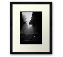 Endless road Framed Print