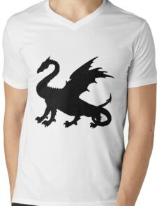 Dragon Mens V-Neck T-Shirt