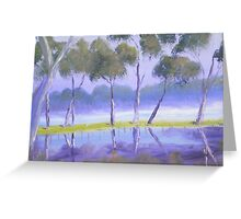 Red River Gums on the mashlands of the Murray River Greeting Card