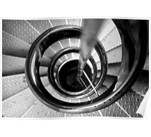 Lighthouse stairs Poster