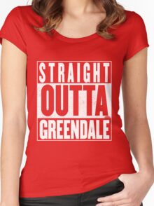 STRAIGHT OUTTA GREENDALE Women's Fitted Scoop T-Shirt