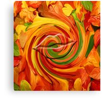 Autumn Kiss -ABSTRACT63 art/ Clothing+Products Design Canvas Print