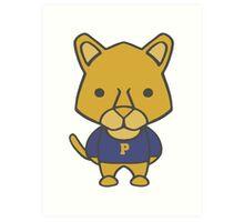 Panther Mascot Chibi Cartoon Art Print