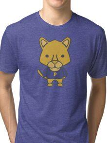 Panther Mascot Chibi Cartoon Tri-blend T-Shirt