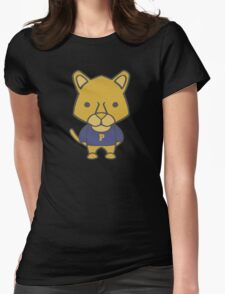 Panther Mascot Chibi Cartoon Womens Fitted T-Shirt