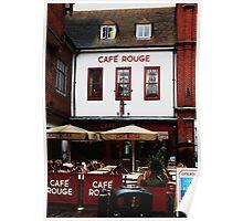 Cafe Rouge - Canterbury, Kent, UK Poster