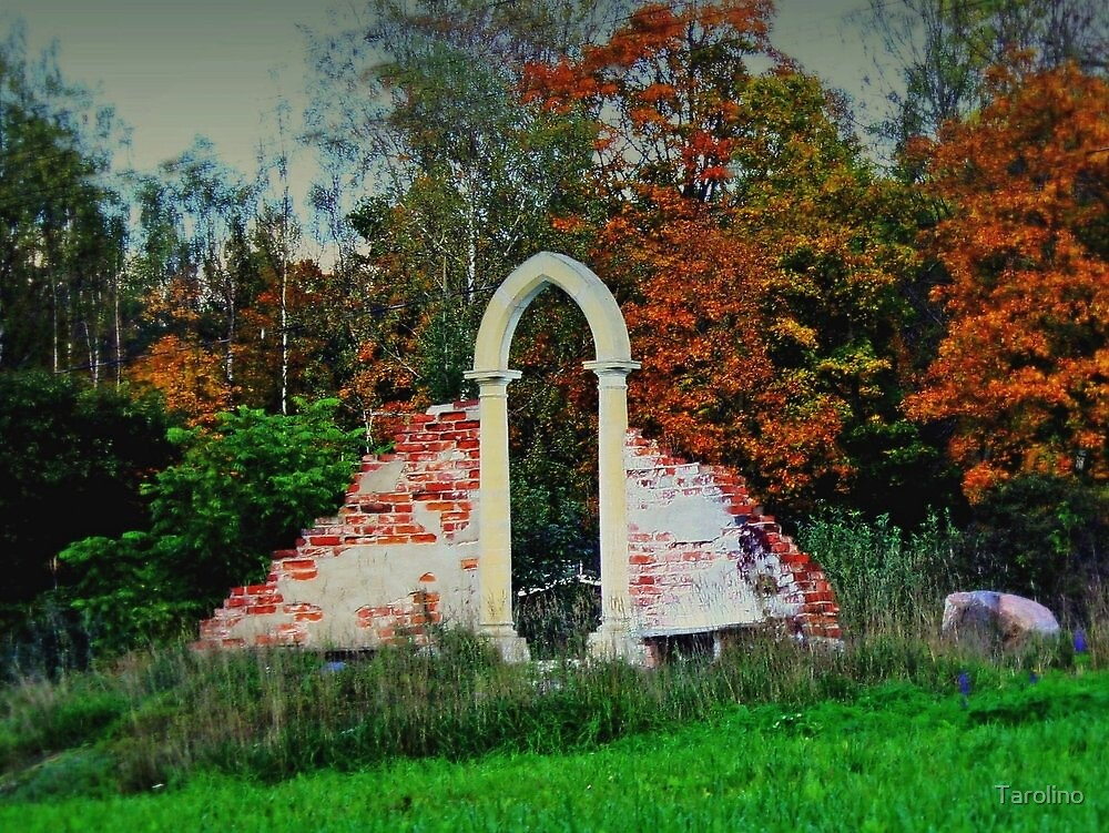 Ruins of an old house at Mustio in southern Finland by Tarolino