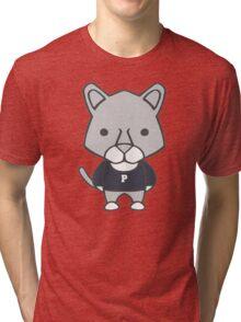 Lion Mascot Chibi Cartoon Tri-blend T-Shirt