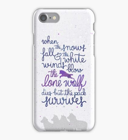 The lone wolf iPhone Case/Skin