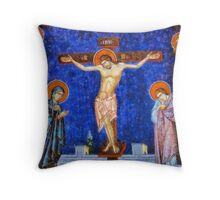Christ Crucified by Pierre Blanchard Throw Pillow